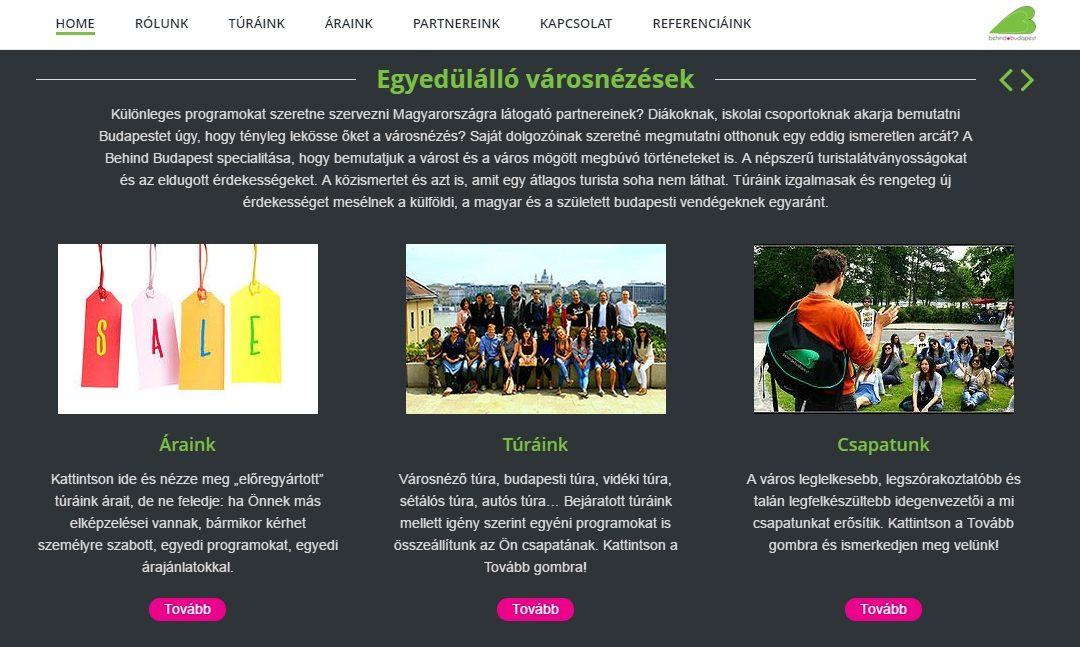 Weboldal: Behind Budapest
