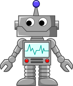 Mosolygós clipart robot