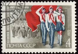 bélyeg szovjet úttörőkkel