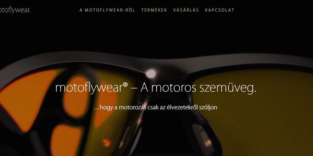 Referencia: Weboldal: motoflywear weboldal