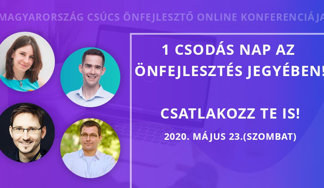 Önfejlesztő akadémia online konferencia – előadó és szövegíró:)