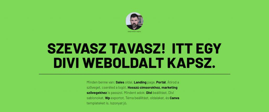 Netjet.hu landing oldal